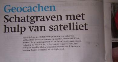 Geocachen in Friesch Dagblad