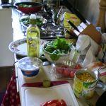 met de verse groente koken!