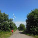 Cachen bij de Duitse windmolens