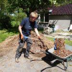 Aanleg moestuin - houtsnippers